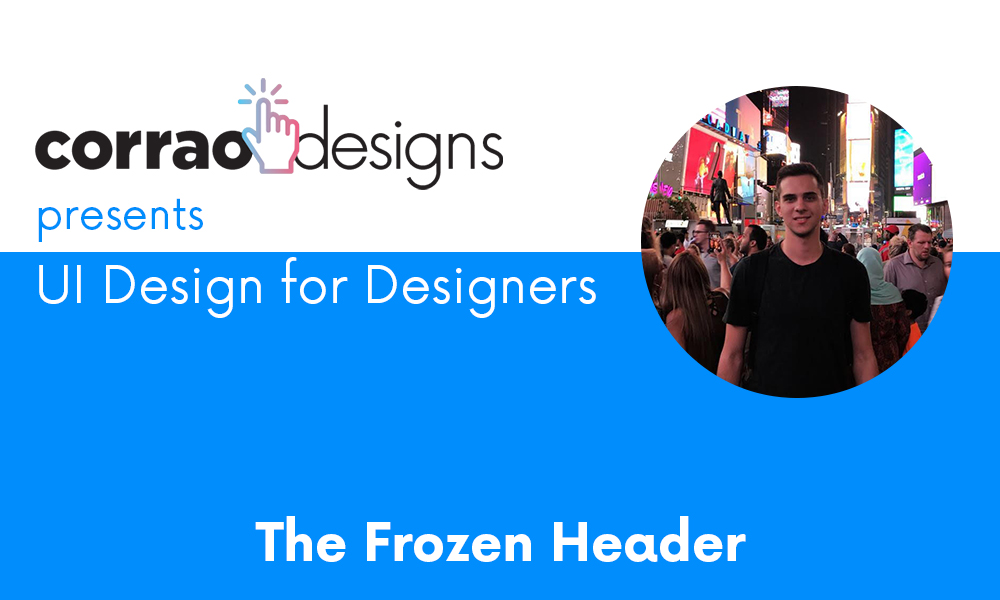 Creating a Frozen Header in Wix